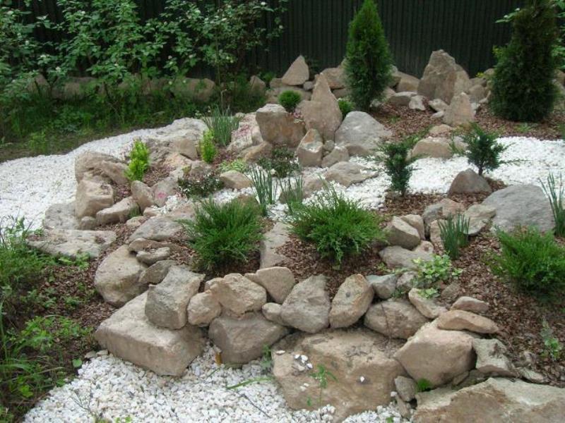 Ландшафтный дизайн камнями фото